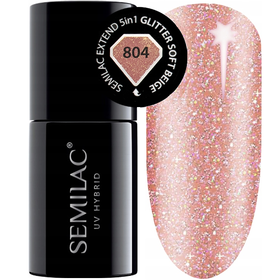 Semilac Baza Extend 804 Top Kolor 5w1 Glitter Soft Beige 7ml