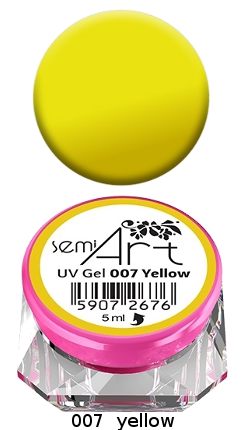 Semi Art UV Gel 007 Yellow Semilac żel do zdobień
