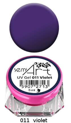 Semi Art UV Gel 011 Violet Semilac żel do zdobień