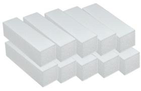 10x Blok bloczek polerski BIAŁY zestaw 10szt