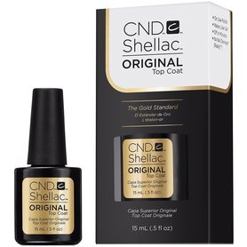 CND Shellac DUŻY Top Coat 15ml do lakieru hybrydowego