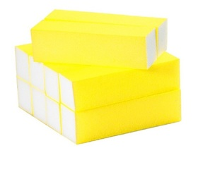 Blok polerski do paznokci NEON YELLOW 100/100 10szt