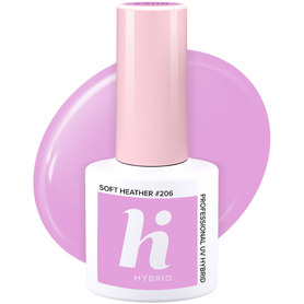 HI HYBRID Lakier Hybrydowy #206 SOFT HEATHER 5ml