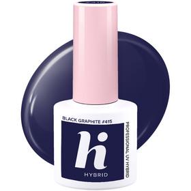 HI HYBRID #415 Lakier Hybrydowy BLACK GRAPHITE 5ml
