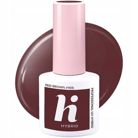 HI HYBRID #406 Lakier Hybrydowy RED BROWN 5ml