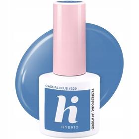 HI HYBRID #329 Lakier Hybrydowy CASUAL BLUE 5ml