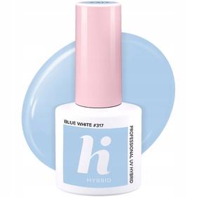 HI HYBRID #317 Lakier Hybrydowy BLUE WHITE 5ml