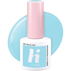 HI HYBRID #314 Lakier Hybrydowy SKY BLUE 5ml