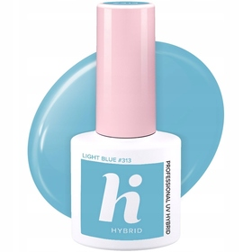 HI HYBRID #313 Lakier Hybrydowy LIGHT BLUE 5ml