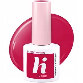 HI HYBRID #245 Lakier Hybrydowy CLASSIC RED 5ml