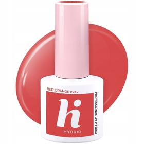 HI HYBRID #242 Lakier Hybrydowy RED ORANGE 5 ml