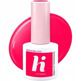 HI HYBRID #233 Lakier Hybrydowy NEON RED 5ml