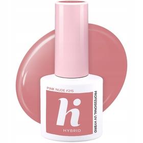 HI HYBRID #215 Lakier Hybrydowy PINK NUDE 5ml