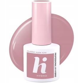 HI HYBRID #214 Lakier Hybrydowy CLASSIC NUDE 5ml