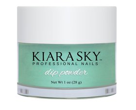 Kiara Sky Dip powder D493 THE REAL TEAL Manicure Tytanowy