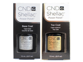 CND SHELLAC zestaw BAZA + TOP COAT 2 x 7,3ml