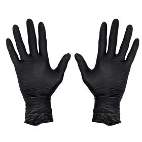 Rękawiczki Nitrylowe manicure BLACK - CZARNE L