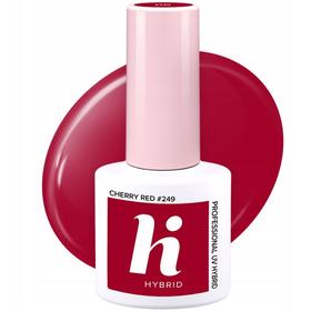 HI HYBRID #249 Lakier Hybrydowy CHERRY RED 5ml