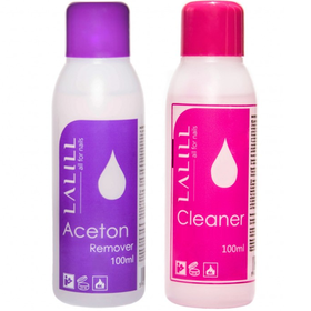 LALILL zestaw 2x 100ml CLEANER + ACETON remover