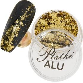 METALICZNE PŁATKI ALU pyłek królewskie złoto Nr2