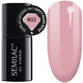 Semilac Baza Extend 802 Top Kolor 5w1 Dirty Nude Rose 7ml