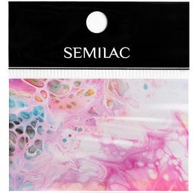 SEMILAC Folia transferowa 08 Rainbow Marble foil
