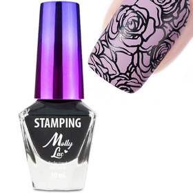 Molly Lac Lakier do stempli stamping CZARNY 10ml