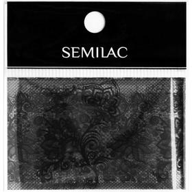 SEMILAC Folia transferowa 06 BLACK LACE KORONKA