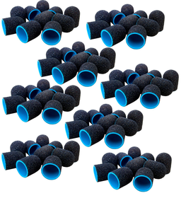 100x LUX BLUE KAPTUREK ŚCIERNY pedicure 13mm gr 80