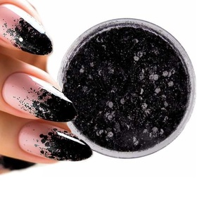 Elegance Pyłek do paznokci Nr 20 czarny brokat