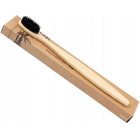 Bambusowa szczoteczka do zębów z czarnym włosiem