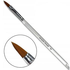PĘDZELEK DO AKRYLU nr6 przezroczysty acrylic brush
