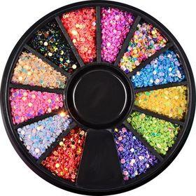 KARUZELA Cyrkonie jet Kolorowe Kryształki - wzór 7