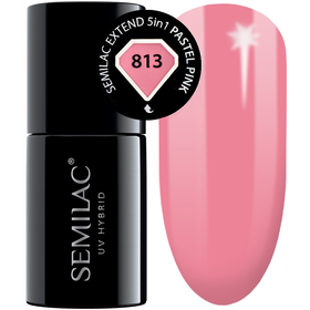 Semilac Baza Extend 813 Top Kolor 5w1 Pastel Pink 7ml